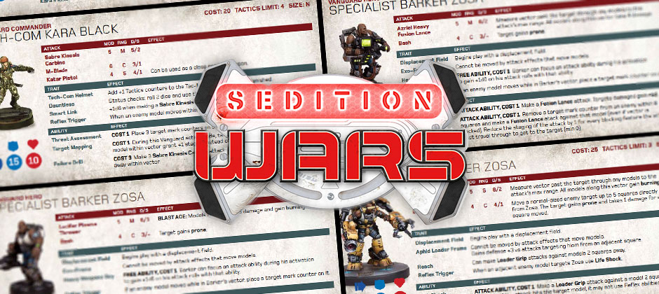 Sedition Wars Cards